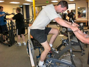 He pedaled up to 20 minutes now. 11/28/07
